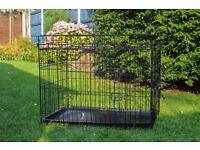 Large Black Collapsible Folding Folding Dog Pet House Easy Transport