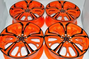 17 orange black wheels rims Neon PT Cruiser Matrix Celica Civic xB 5x100 5x114.3