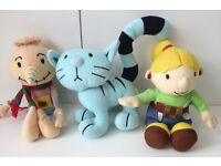 Moshi Monsters and Bob the Builder soft toys