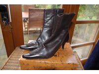 Women Ankle Boots Italian Leather