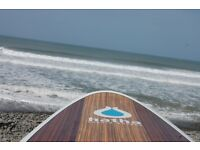 """HATHA PADDLE BOARD WOOD """"THE PLANK"""" 10'6 HARD SUP - DEVON - CAN POST!"""