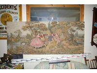 Tapestry for wall hidden frame