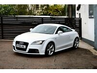 2011 AUDI TT S LINE TDI QUATTRO 170 IBIS WHITE TOP SPEC NOT A3 LEON MINI BEETLE 500 LOW RATE FINANCE