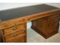 Barker & Stonehouse writing desk,chair and cabinet
