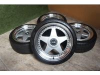 "Genuine DARE F5 17"" Alloy wheels 5x100 & 5x112 VW Polo Golf Beetle TT Ibiza Fabia Alloys Futura"