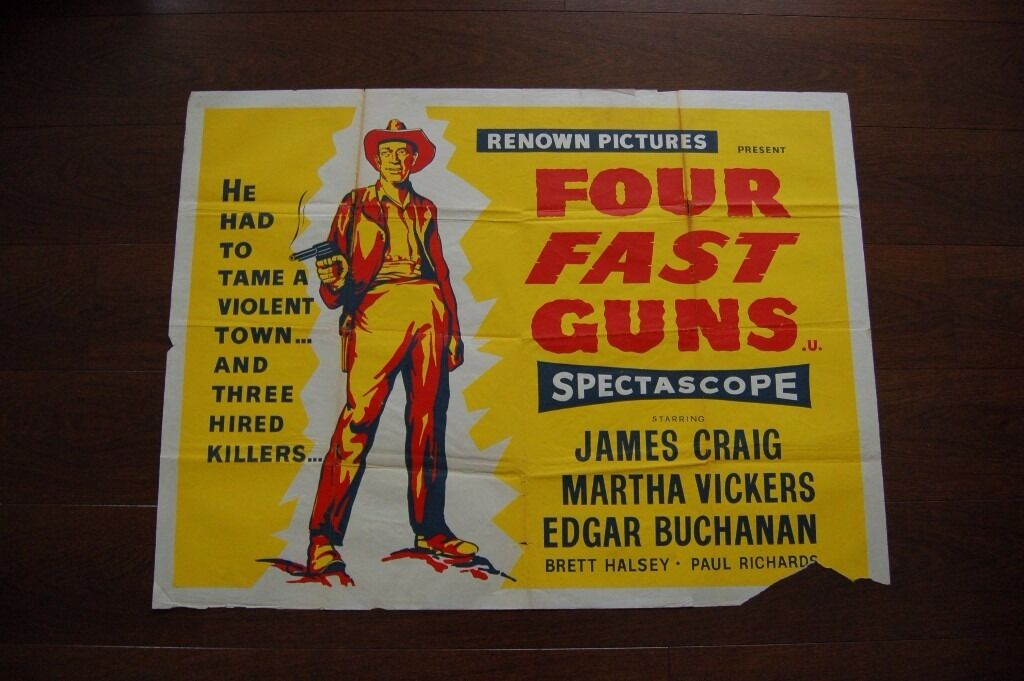 four fast guns ' original ( 1950s ) film poster