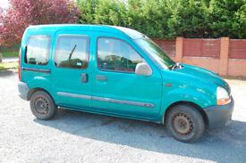 Renault Kangoo 5 seater MPV, 71400 miles, sept 18 MOT