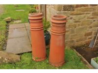 Two 3ft chimney pots