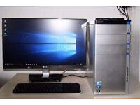 Acer Full Desktop PC, i5 Quad Core CPU, 2TB HDD, 16GB Ram, AMD HD Graphics Card, WiFi, Win 10