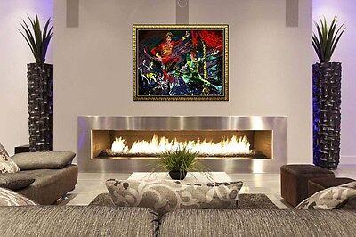 LEROY NEIMAN Original Large Oil Painting on Board Signed Playboy Bar Artwork SBO