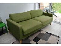 FREE!!! for collection immediately IKEA Karlstad green Sofa Bed 3 seater Used