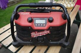 MILWAUKEE SITE RADIO ..110 volt