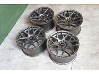 "Genuine Japan Racing JR18 17"" Alloy wheels 5x100 & 5x114.3 Celica S14 Supra Skyline Alloys JDM"