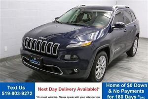 2014 Jeep Cherokee LIMITED w/ NAVIGATION! LEATHER! REVERSE CAMER