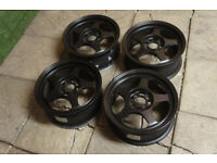 "Genuine Rota Slipstream 15"" Alloy wheels 4x100 MX5 Eunos Golf Civic Yaris MR2 CRX JDM Alloys Track"