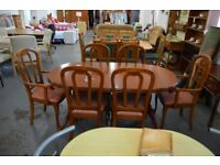 Extending Dining Table and 6 Chairs - GT 062