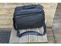 Targus 14.1 - 15.6 Black Leather Laptop Bag