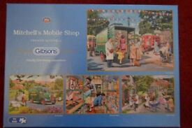 Gibsons 4 x 500 Piece Jigsaw Puzzles - MITCHELL'S MOBILE SHOP by Trevor Mitchell