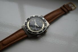 Newmark manual wind mechanical diver's wristwatch - Swiss - Vintage'60s/'70s