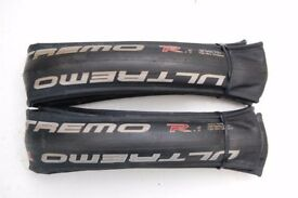 A pair of Schwalbe Ultremo R New 700c x 23mm Black Very Light RRP £90