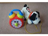 PlaySkool Pull Along Dog and Boots Musical Ticking Clock