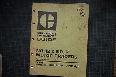 Cat Caterpillar 12 14 Motor Grader Maintenance Manual 1969 Guide Book Owner Road