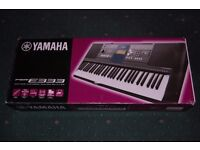 Yamaha PSR-E333 (Like New and Boxed) + Duronic Twin X-Frame Keyboard Stand