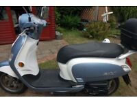 SYM Fiddle 111. Scooter. 50cc. As New. £ 1500 or near Offer. One Lady Owner. 1566 on clock.