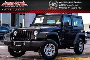 2017 Jeep Wrangler NEW Car Sport|4X4|Connect Pkg|SatRadio|A/C|Cr