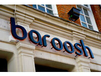 Full Time Bartender/ Front of House Staff - Up to £7.50 per hour - Baroosh - Marlow, Buckinghamshire