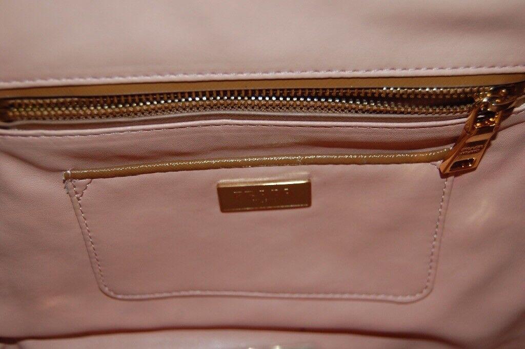 e97afc9757f Authentic Prada Limited Edition Camel   White Leather Pyramid Frame Bowler  Bag