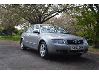 FOR SALE 2003 AUDI A4 SE 2.0 PETROL FULL SERVICE HISTORY WITH LAST SERVICE AT 77,530 MILES ALLOYS