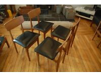 Legate Mid century teak dining chairs