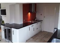 White Howdens Kitchen for sale with Granite worktops and some appliances