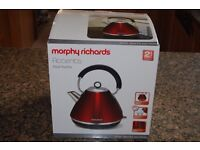 Morphy Richards 'Accents' red kettle