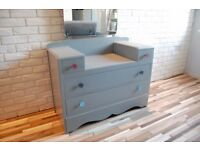 DRESSING TABLE WITH MIRROR, SIDEBOARD, DRAWERS,SHABBY CHIC, VINTAGE, RETRO (free delivery)