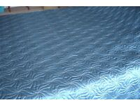 Marks and Spencer Bedspread bed cover quilt in deep teal colour