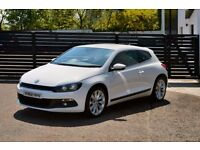 2012 VW SCIROCCO GT TDI BMT £30 TAX FVSH CANDY WHITE VIENNA TRUFFLE LEATHER NOT NOT TT Z4 MINI 500