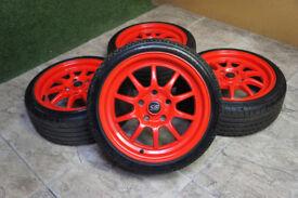 "Genuine ROTA GT3 16"" Alloy wheels 5x114.3 Honda Civic EK9 EP3 Integra MR2 FTO JDM Alloys"
