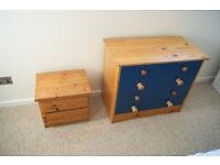 2 Drawers both solid wood x1 4 drawer, x1 2 drawer (needs handles)