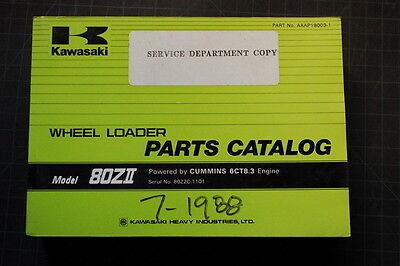 Kawasaki 80zii Wheel Loader Parts Manual Book Catalog Shop Pay Oem List Spare