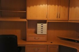 Home office for sale with 2 work stations , drawers and storage cupboards excellent condition.