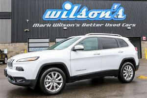 2016 Jeep Cherokee $105/WK, 5.49% ZERO DOWN! LIMITED 4X4! LEATHE