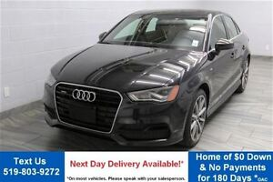 2015 Audi A3 2.0T QUATTRO TECHNIK! AWD w/ NAVIGATION! LEATHER!