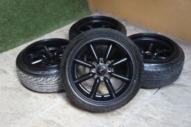 "Genuine Japan Racing JR19 15"" Alloy wheels 4x100 & 4x114.3 MX5 Clio Corsa Polo Golf AE86"