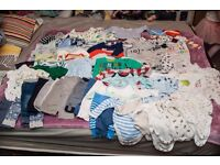 BIG Bundle of baby boy clothes 0-3 months (62 items)