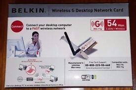 Belkin Wireless G Desktop Network Card - PCI Model: F5D7000UK 54Mbps