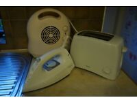 Electric Fan Heater, Toaster and Iron