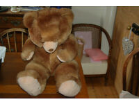 Authentic vintage large brown teddy bear