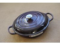 Le Creuset Cast Iron Shallow Casserole Dish 30cm, Cassis - Brand New, Boxed!